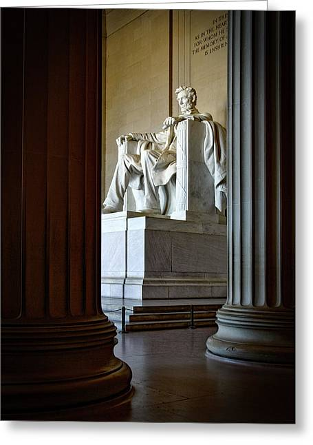 The Lincoln Memorial Greeting Card by Mountain Dreams