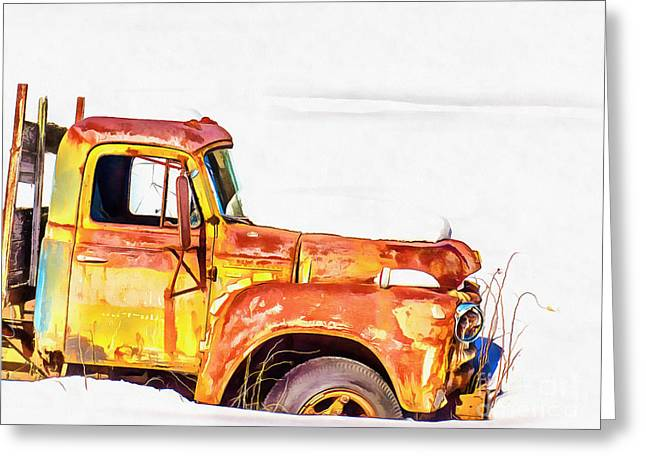 The Old Farm Truck Greeting Card