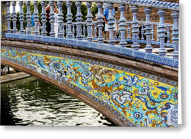 The Plaza De Espana - Seville - Spain Greeting Card by Jon Berghoff