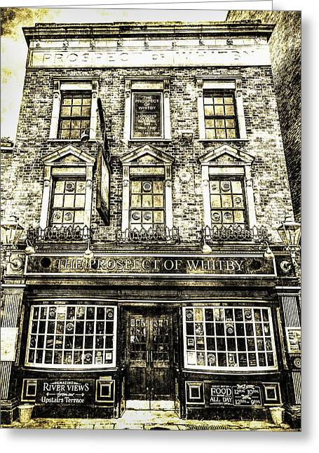 The Prospect Of Whitby Pub London Vintage Greeting Card by David Pyatt