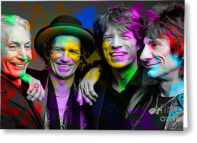 The Rolling Stones Greeting Card by Marvin Blaine