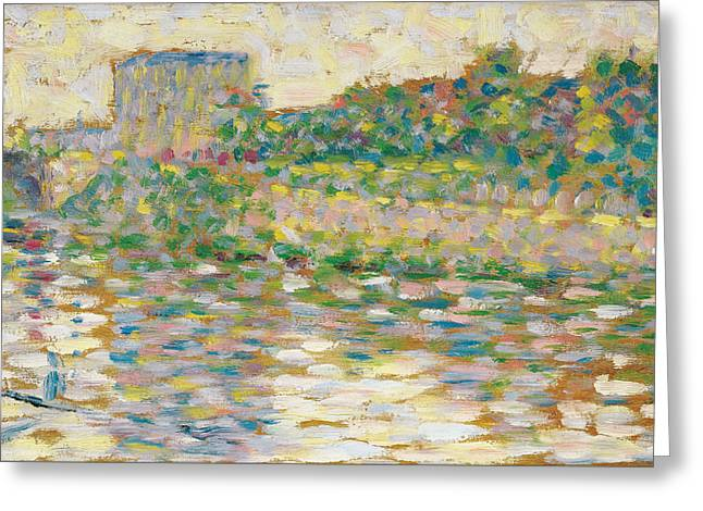 The Seine At Courbevoie Greeting Card