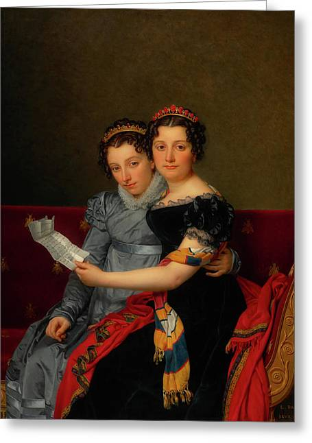 The Sisters Zenaide And Charlotte Bonaparte Greeting Card