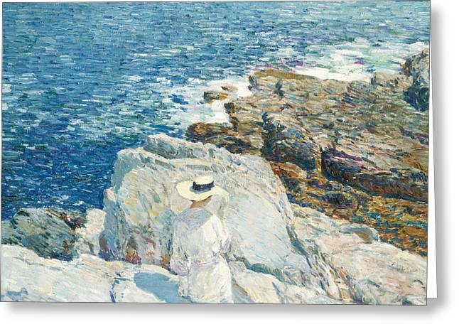 The South Ledges, Appledore Greeting Card by Childe Hassam