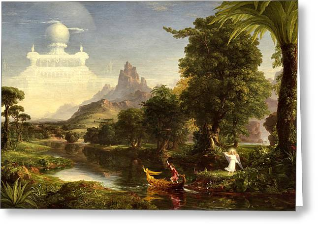 The Voyage Of Life, Youth Greeting Card by Thomas Cole
