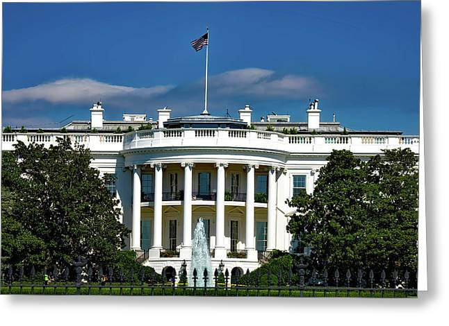 The White House Greeting Card by Mountain Dreams