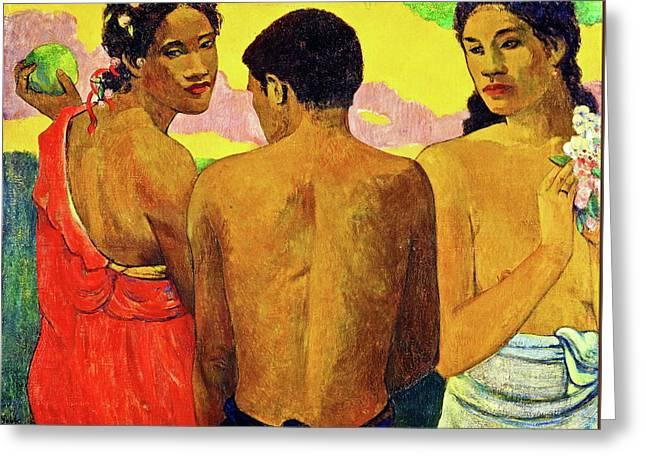 Three Tahitians Greeting Card