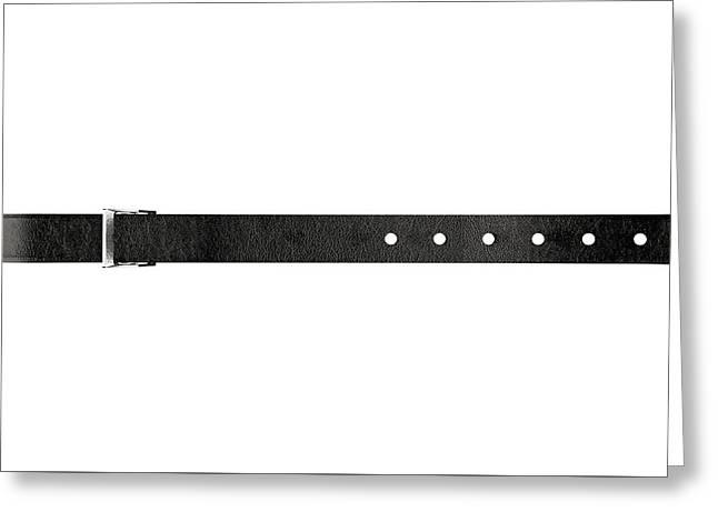 Tightening Belt Greeting Card by Allan Swart