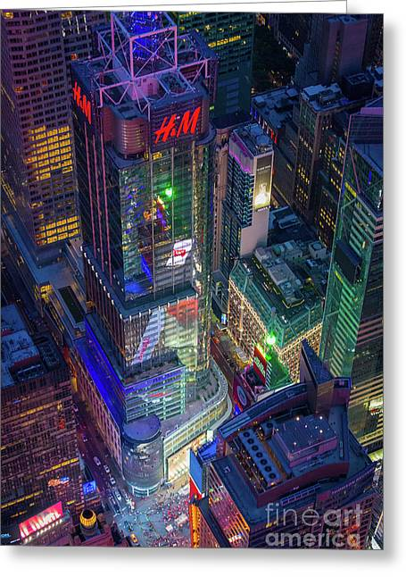 4 Times Square Greeting Card