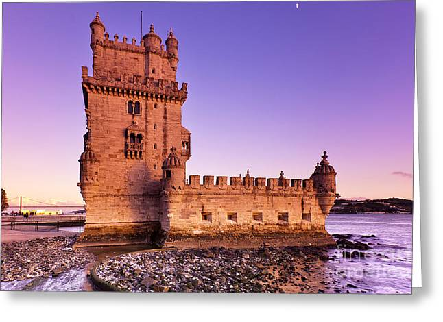 Tower Of Belem Greeting Card by Andre Goncalves