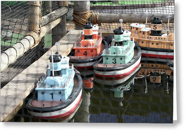 4 Toy Boats Greeting Card