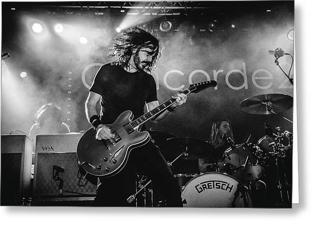 Uk Foo Fighters Live @ Concorde 2 Greeting Card