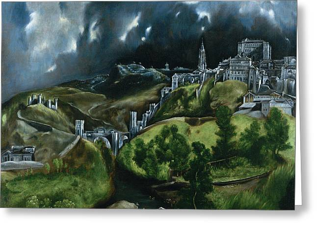 View Of Toledo Greeting Card by El Greco
