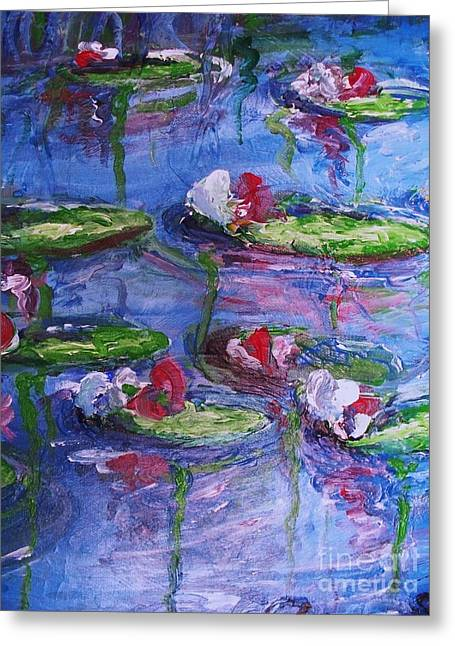 Water Lilies Greeting Card by Eric  Schiabor