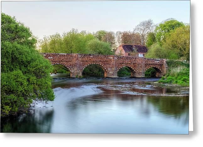 White Mill - England Greeting Card by Joana Kruse