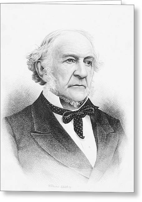 William Ewart Gladstone 1809 To 1898 Greeting Card by Vintage Design Pics