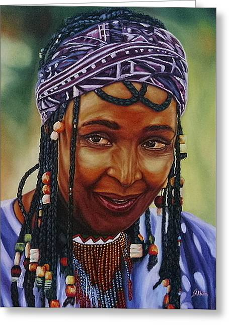 Winnie Mandela Greeting Card by Shahid Muqaddim
