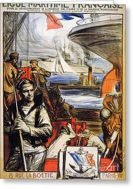 World War I: French Poster Greeting Card by Granger