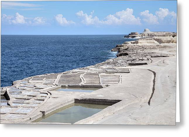 Xwejni Bay - Gozo Greeting Card by Joana Kruse