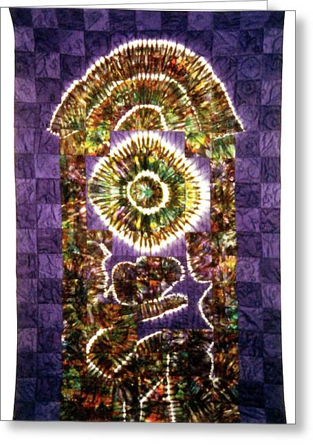 Large Tapestries - Textiles Greeting Cards - 40 Greeting Card by Mildred Thibodeaux