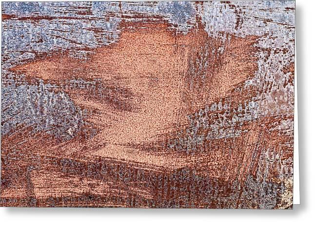 Rusty Metal Greeting Card by Tom Gowanlock
