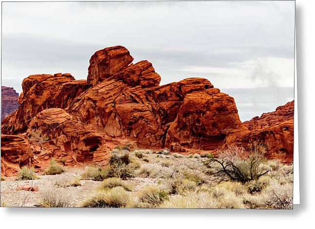 Valley Of Fire State Park Panorama Greeting Card