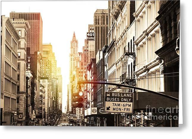 401 Broadway Greeting Card