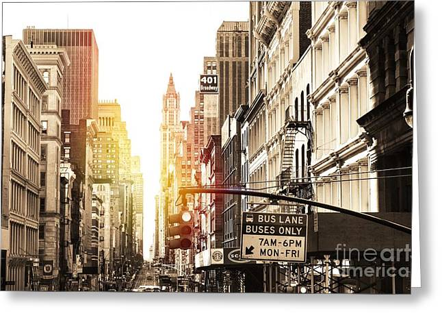 401 Broadway Greeting Card