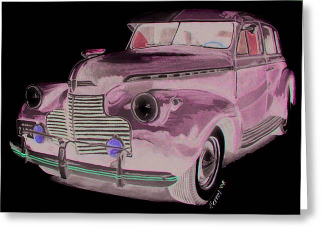 41 Chevy Greeting Card by Ferrel Cordle