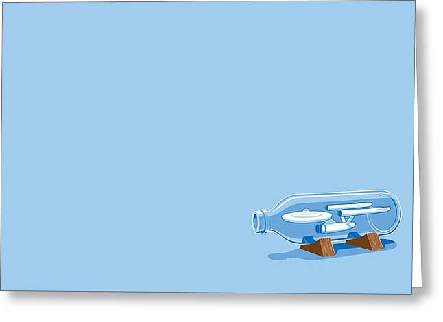 42236 Simple Enterprise In A Bottle Greeting Card