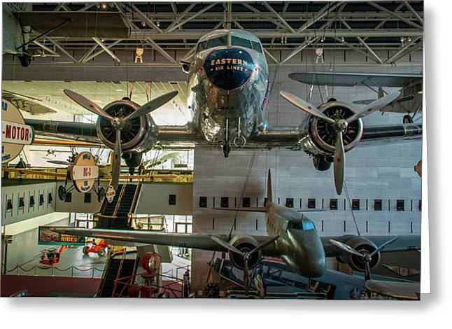 4267- Air And Space Museum  Greeting Card by David Lange