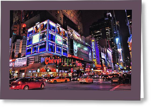 42nd Street And 8th Avenue Greeting Card