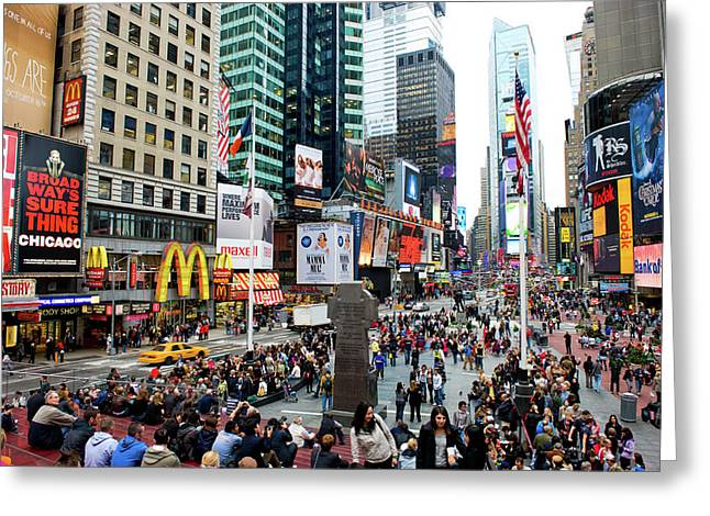 42nd Street In New York City Greeting Card