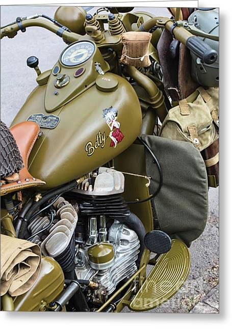 42wlc Harley Davidson Greeting Card