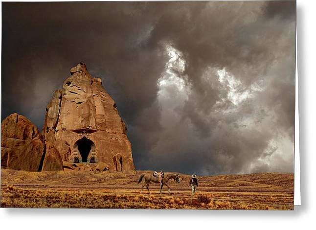 Greeting Card featuring the photograph 4398 by Peter Holme III