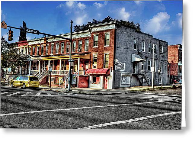 43rd Street And York Road Greeting Card