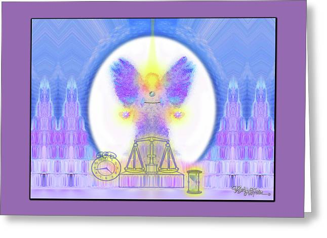 Greeting Card featuring the digital art 444 Justice #197 by Barbara Tristan
