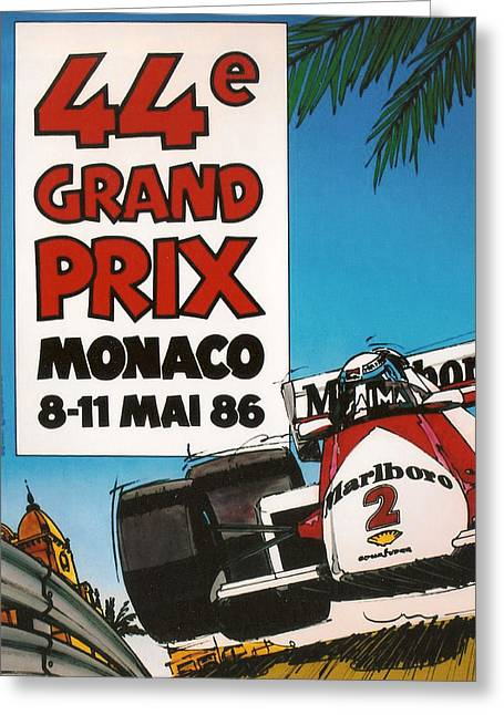 44th Monaco Grand Prix 1986 Greeting Card by Georgia Fowler