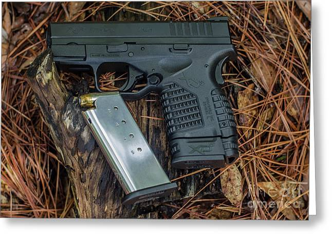 45 Acp Carry Gun Greeting Card by Dale Powell