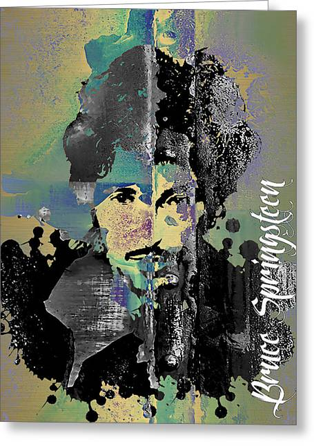 Bruce Springsteen Collection Greeting Card by Marvin Blaine