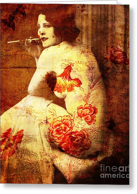 Winsome Woman  Greeting Card by Chris Andruskiewicz