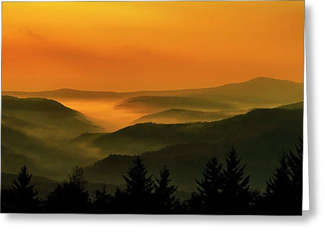Greeting Card featuring the photograph Allegheny Mountain Sunrise by Thomas R Fletcher
