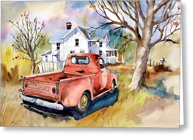 ''47'' Chevy Blues Greeting Card