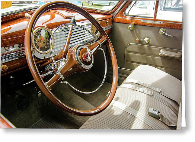 47 Chevy Interior Greeting Card