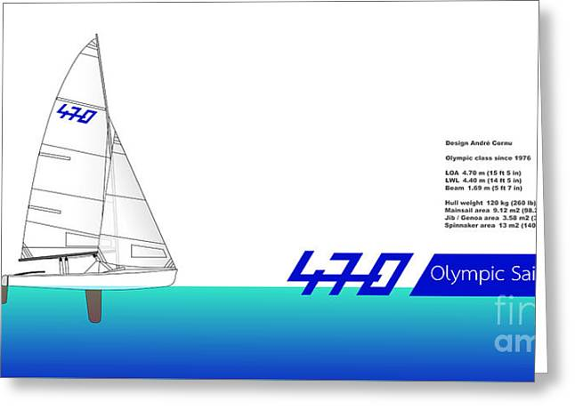 470 Olympic Sailing Greeting Card