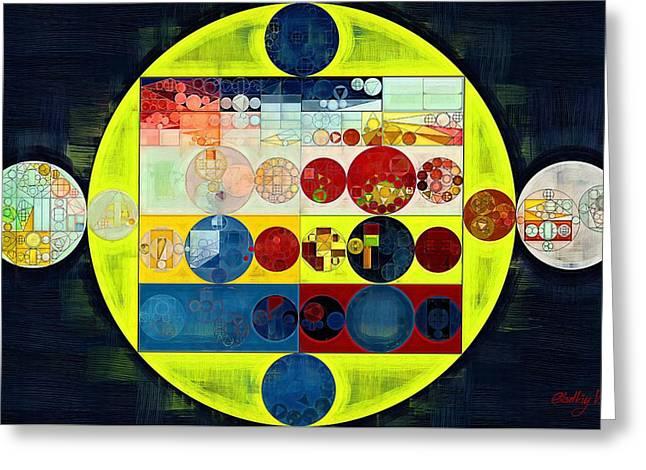 Greeting Card featuring the digital art Abstract Painting - Dark Jungle Green by Vitaliy Gladkiy