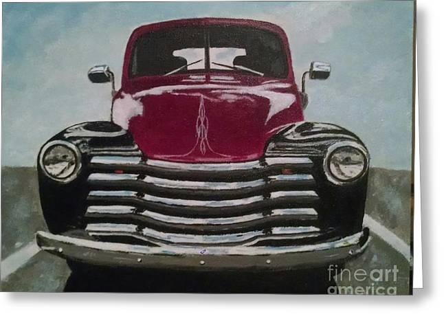 '48 Chevy Pickup  Greeting Card by Kenneth DeMoliner