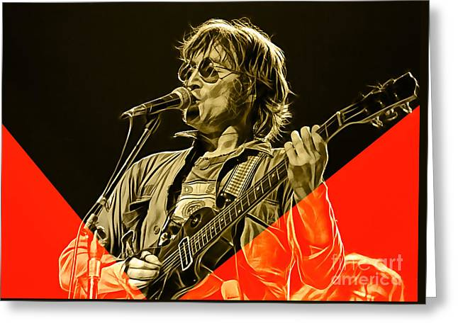 John Lennon Collection Greeting Card by Marvin Blaine