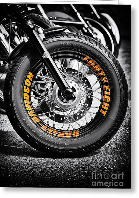 48 Rims Greeting Card by Tim Gainey