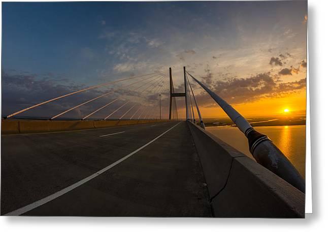 486 Feet Sunrise Greeting Card by Chris Bordeleau